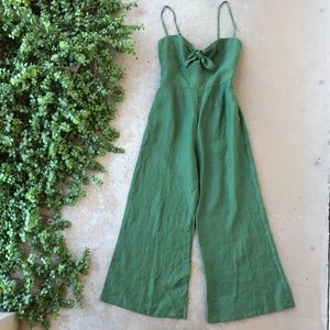 Faithfull the Brand Revolve Green Linen Jumpsuit
